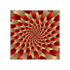 Fractal Red Petal Spiral Acrylic Tangram Puzzle (4  X 4 )