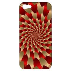 Fractal Red Petal Spiral Apple Iphone 5 Hardshell Case