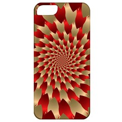Fractal Red Petal Spiral Apple Iphone 5 Classic Hardshell Case