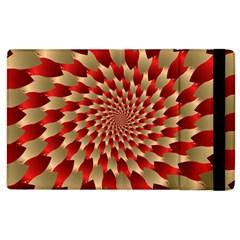 Fractal Red Petal Spiral Apple Ipad 3/4 Flip Case