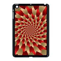 Fractal Red Petal Spiral Apple Ipad Mini Case (black)