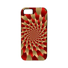 Fractal Red Petal Spiral Apple Iphone 5 Classic Hardshell Case (pc+silicone)