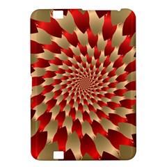 Fractal Red Petal Spiral Kindle Fire HD 8.9