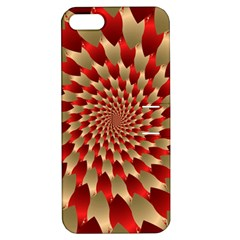Fractal Red Petal Spiral Apple iPhone 5 Hardshell Case with Stand