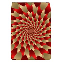 Fractal Red Petal Spiral Flap Covers (l)
