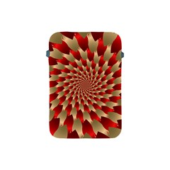Fractal Red Petal Spiral Apple Ipad Mini Protective Soft Cases
