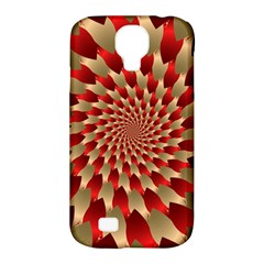 Fractal Red Petal Spiral Samsung Galaxy S4 Classic Hardshell Case (pc+silicone)
