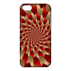 Fractal Red Petal Spiral Apple Iphone 5c Hardshell Case