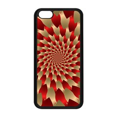 Fractal Red Petal Spiral Apple Iphone 5c Seamless Case (black)