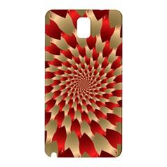 Fractal Red Petal Spiral Samsung Galaxy Note 3 N9005 Hardshell Back Case