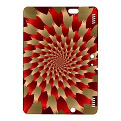 Fractal Red Petal Spiral Kindle Fire HDX 8.9  Hardshell Case