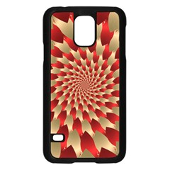 Fractal Red Petal Spiral Samsung Galaxy S5 Case (Black)