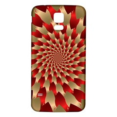 Fractal Red Petal Spiral Samsung Galaxy S5 Back Case (White)