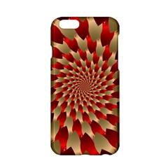 Fractal Red Petal Spiral Apple Iphone 6/6s Hardshell Case