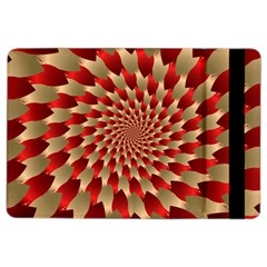 Fractal Red Petal Spiral iPad Air 2 Flip