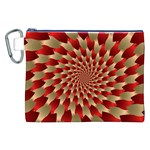 Fractal Red Petal Spiral Canvas Cosmetic Bag (XXL) Front