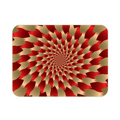Fractal Red Petal Spiral Double Sided Flano Blanket (Mini)