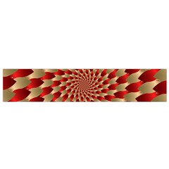 Fractal Red Petal Spiral Flano Scarf (Small)