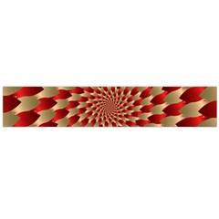 Fractal Red Petal Spiral Flano Scarf (large)