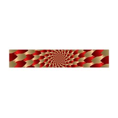 Fractal Red Petal Spiral Flano Scarf (mini)