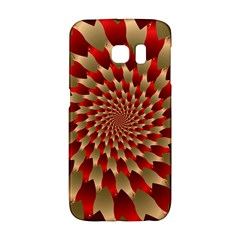 Fractal Red Petal Spiral Galaxy S6 Edge