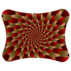 Fractal Red Petal Spiral Jigsaw Puzzle Photo Stand (bow)