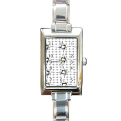 Fractal Design Pattern Rectangle Italian Charm Watch