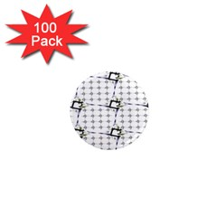 Fractal Design Pattern 1  Mini Magnets (100 Pack)