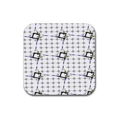 Fractal Design Pattern Rubber Coaster (Square)