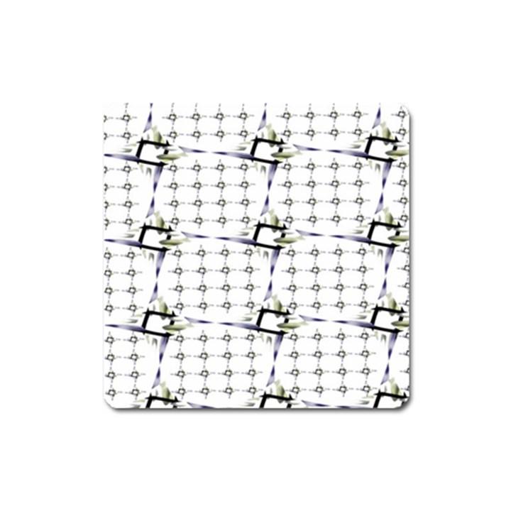 Fractal Design Pattern Square Magnet