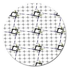 Fractal Design Pattern Magnet 5  (round)