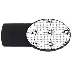 Fractal Design Pattern Usb Flash Drive Oval (2 Gb)
