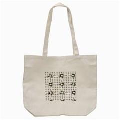 Fractal Design Pattern Tote Bag (cream)