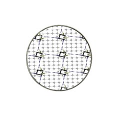 Fractal Design Pattern Hat Clip Ball Marker (4 Pack)