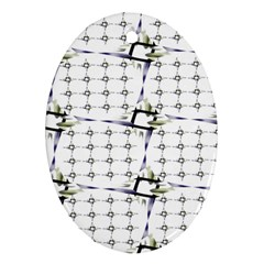 Fractal Design Pattern Oval Ornament (two Sides)