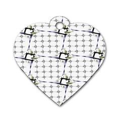 Fractal Design Pattern Dog Tag Heart (Two Sides)