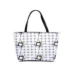 Fractal Design Pattern Shoulder Handbags
