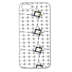 Fractal Design Pattern Apple Seamless Iphone 5 Case (clear)