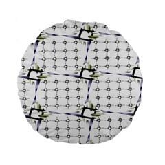 Fractal Design Pattern Standard 15  Premium Round Cushions