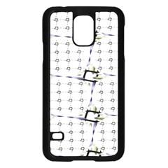 Fractal Design Pattern Samsung Galaxy S5 Case (black)