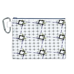 Fractal Design Pattern Canvas Cosmetic Bag (l)