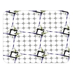 Fractal Design Pattern Double Sided Flano Blanket (large)