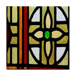 A Detail Of A Stained Glass Window Tile Coasters