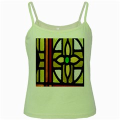 A Detail Of A Stained Glass Window Green Spaghetti Tank