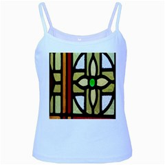 A Detail Of A Stained Glass Window Baby Blue Spaghetti Tank