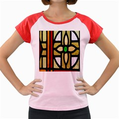 A Detail Of A Stained Glass Window Women s Cap Sleeve T Shirt