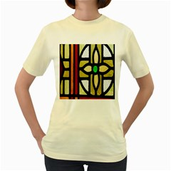A Detail Of A Stained Glass Window Women s Yellow T-Shirt