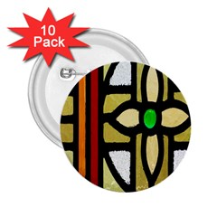 A Detail Of A Stained Glass Window 2.25  Buttons (10 pack)