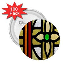 A Detail Of A Stained Glass Window 2 25  Buttons (100 Pack)