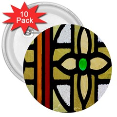 A Detail Of A Stained Glass Window 3  Buttons (10 Pack)